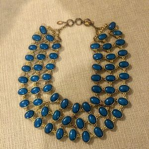 Amrita Singh reversible blue and black necklace